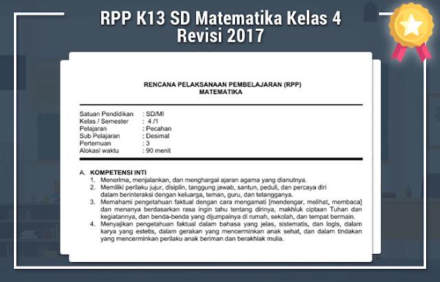 RPP K13 SD Matematika Kelas 4 Revisi 2016