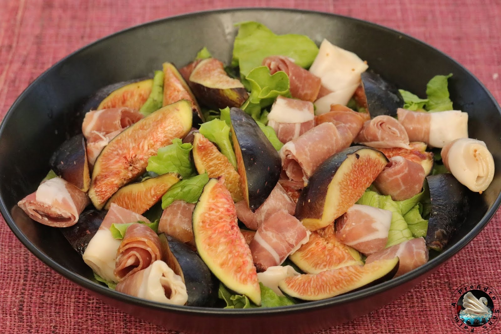 Salade jambon figues