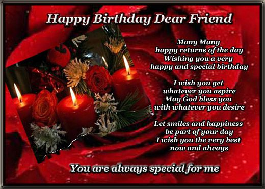 greeting birthday wishes for a special friend This Blog About – Birthday Wishes Greetings for Friends