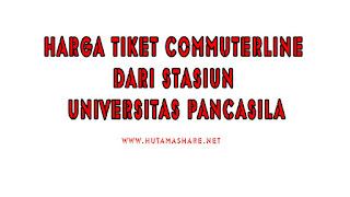 Harga Tiket Commuterline Dari Stasiun Universitas Pancasila Terbaru 2019