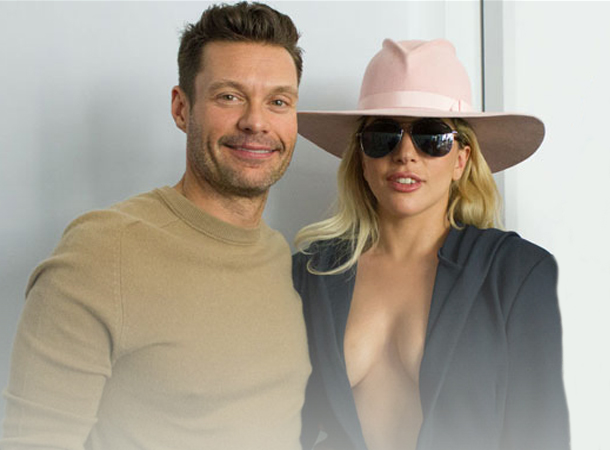 Lady Gaga Discusses Super Bowl & Grammys with Ryan Seacrest