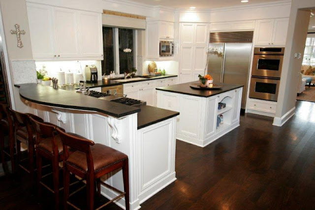 Kitchen With Dark Wood Floors