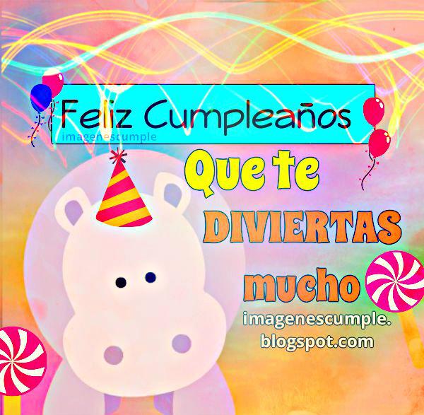 Bonita imagen de cumpleaños con gracioso diseño de imagen para felicitar por este día especial de cumple.