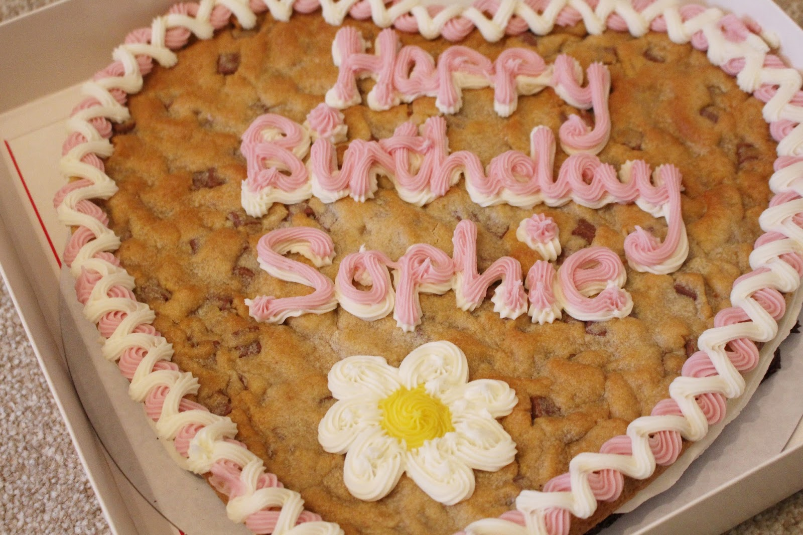 Millies Cookies Giant Birthday Cookie