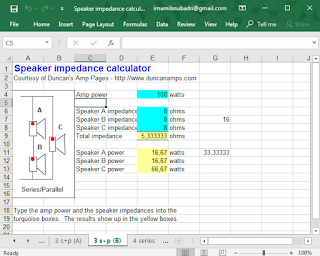 Screenshot 2: Speaker impedance calculator