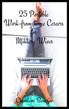 Sign-up to receive our Free ebook '25 Portable Work-From-Home for Military Wives & blog posts!