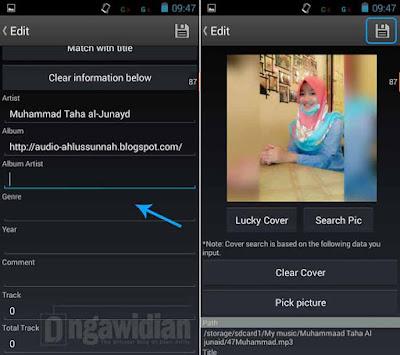 Cara Mengganti Gambar Album MP3 Android
