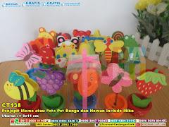 Penjepit Memo Atau Foto Pot Bunga Dan Hewan Include Mika