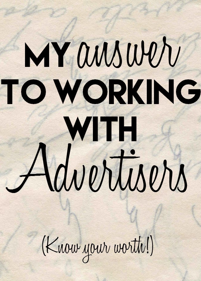 my answer to working with advertisers