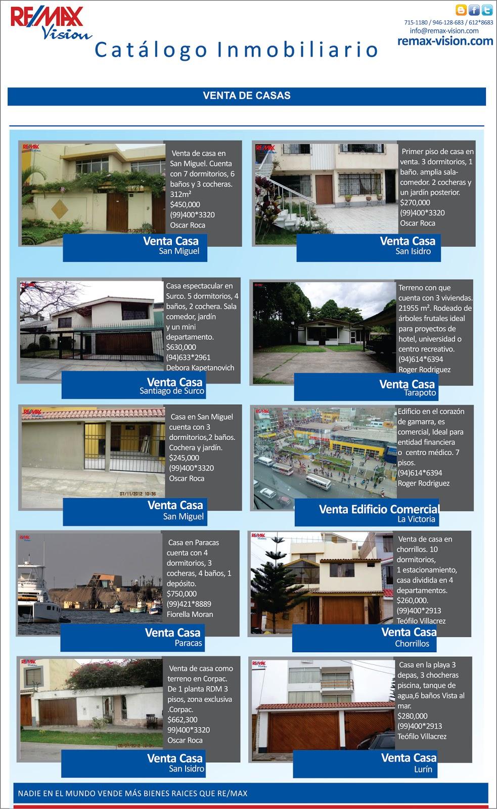 Catalogo inmobiliario remax vision casas re for Catalogo casa