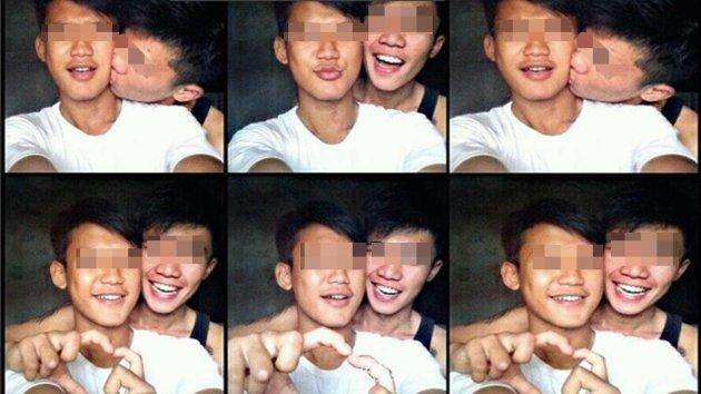 Foto Dua Orang Pemuda Lagi Pelukan dan Ciuman ini Bikin Netizen Geger