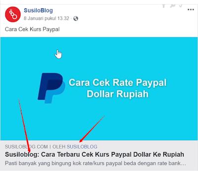 Cara Menghapus Nama Blog Di Depan Judul Ketika Di Share Ke Facebook