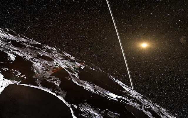Artist's impression of the rings around Asteroid Chariklo