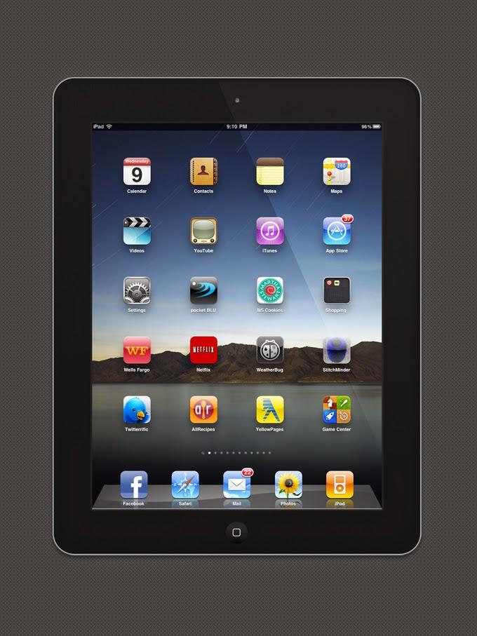 iPad 2 PSD Mockup