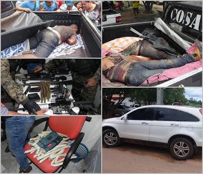 Quadrilha troca tiro com a Policia e três bandidos tombam, em Grajú MA