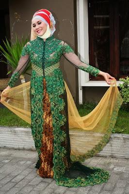 Model Kebaya Wanita Muslimah Gemuk Terbaru