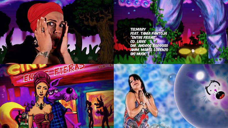 Telmary & Tania Pantoja - ¨Entre fieras¨ - Videoclip / Dibujo Animado - Director: Andros Barroso. Portal Del Vídeo Clip Cubano