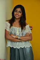 Eesha in a cute deep neck top and Skirt at at Big FM 005.JPG