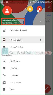 Contoh cara Buat Email Baru Gmail lewat Hp Daftar di Aplikasi