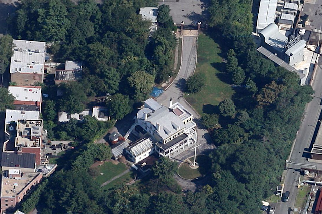 Aerial view of Commandant's House
