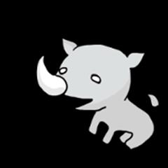 expressionless rhino
