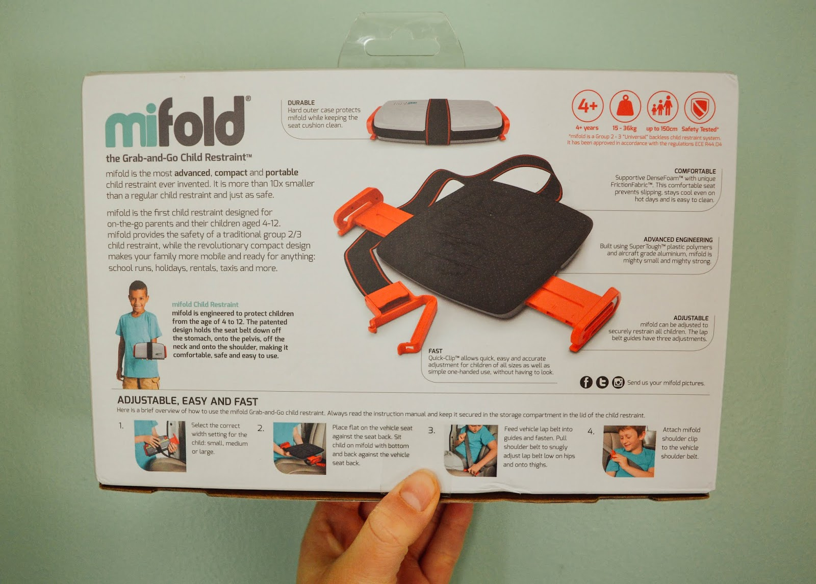 best service f5f7a 4c1f9 In fact, the mifold Grab-and-Go Booster is the most advance, compact and  portable car seat ever invented, and you can t have more of a glowing  report than ...