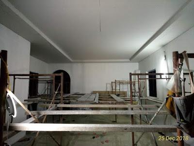 Pemasangan Siling Plaster dengan L-Box dan Cornice di Ruang Tamu