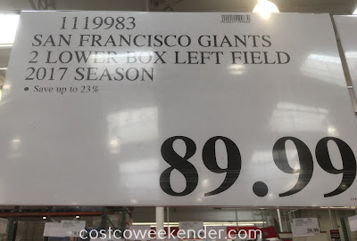 Save 23% on 2 Giants tickets at Costco