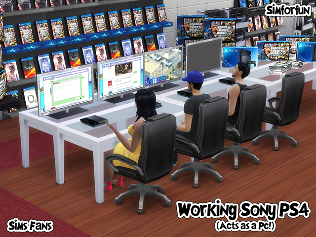 My Sims 4 Blog Sony Ps4 Working Computer By Sim4fun