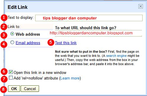 cara membuat link di blog