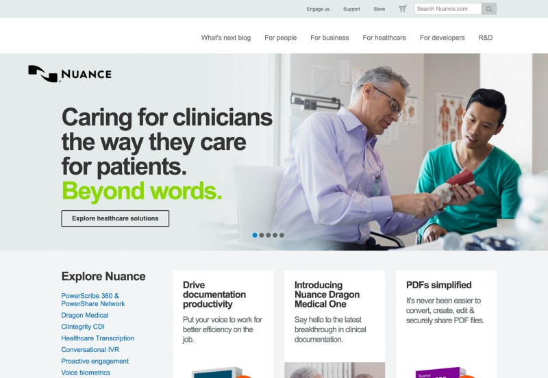 Nuance healthcare solutions