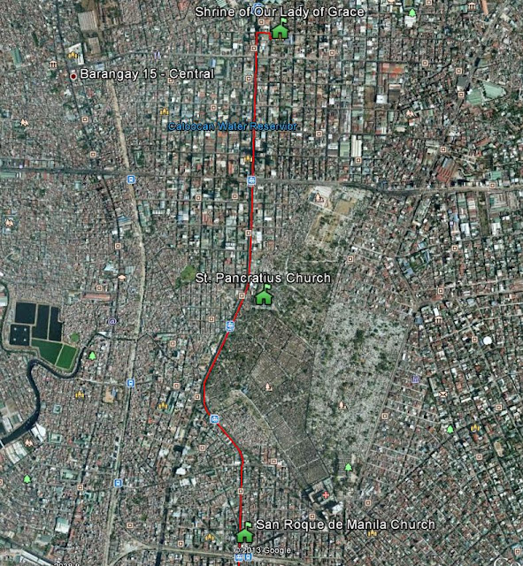 F4L Pilgrimage Route from Monumento to Blumentritt