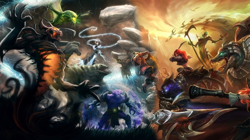 League of Legends or DOTA 2