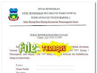 Contoh Surat Keterangan Kelulusan dan Kelakuan Baik Sekolah