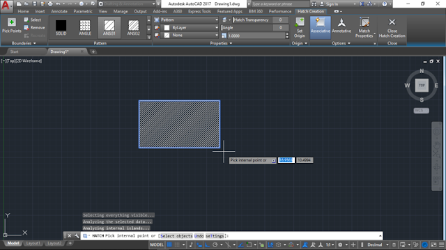 Make Hatch in AutoCAD