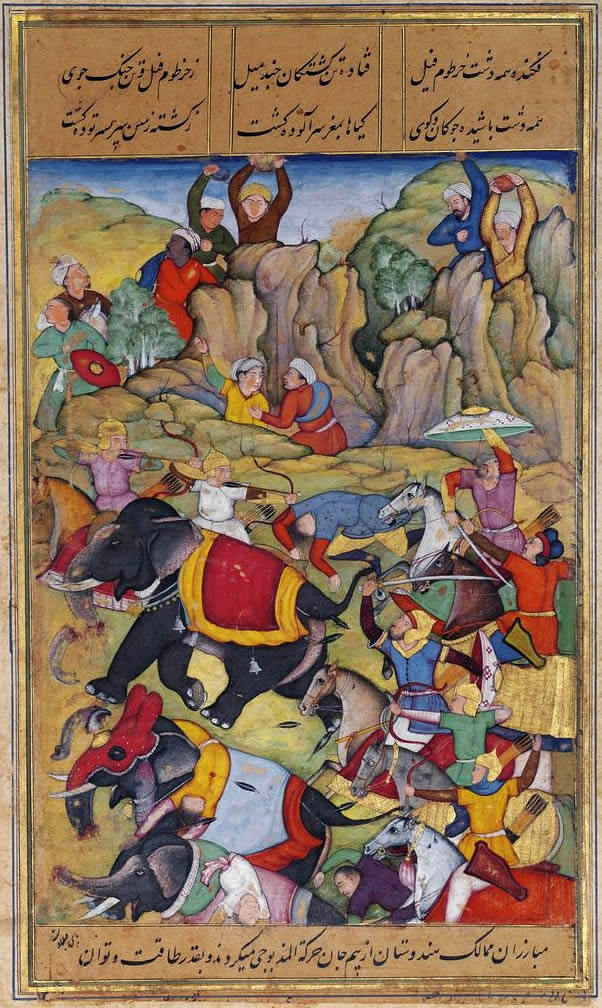 Timur defeats the Sultan of Delhi