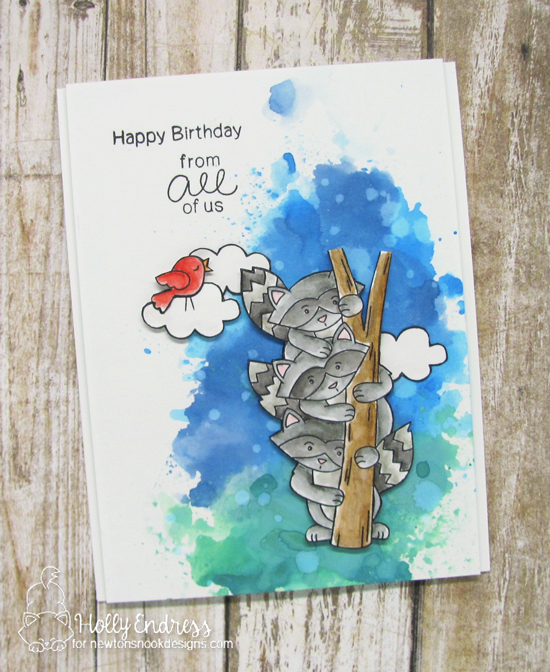 Newton's Nook Designs & Xyron Inspiration Week | Birthday Card by Holly Endress using Raccoon Rascals by Newtons Nook Designs  #newtonsnook #xyroninc
