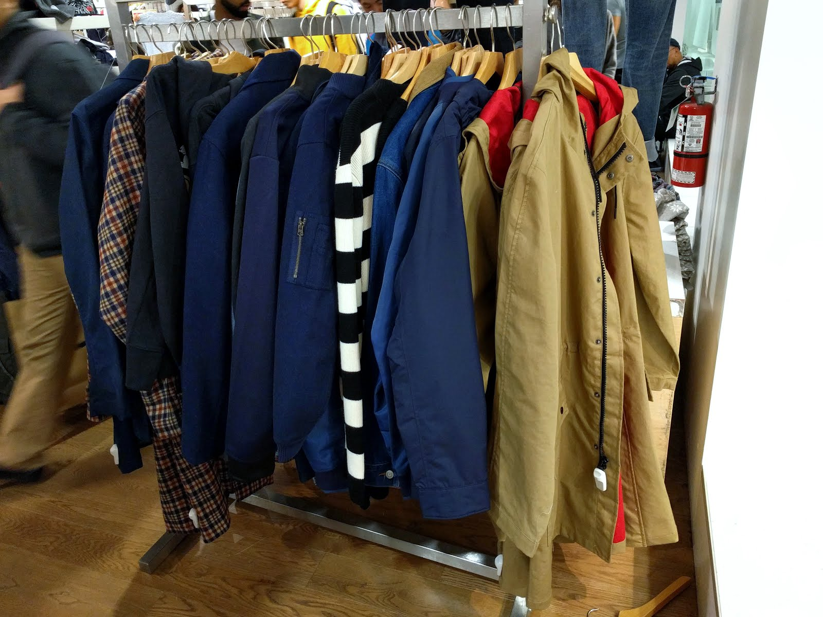 AMI parka to the far right  United Arrows oversized raglan sleeve check  coat on the right  the few remaining standout AMI striped pullover  and  some Kinfolk ... 7379e7a7d891