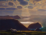 Sturrall. Donegal. Ireland by Rockwell Kent - Landscape Paintings from Hermitage Museum