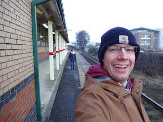 Train nerd Richard Gottfried at Ashton-under-Lyne railway station