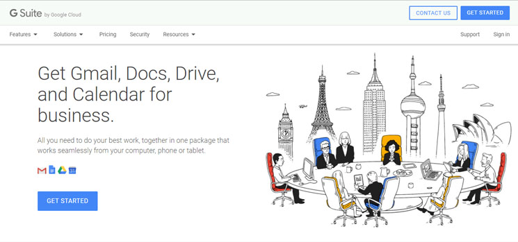 G Suite Home Page