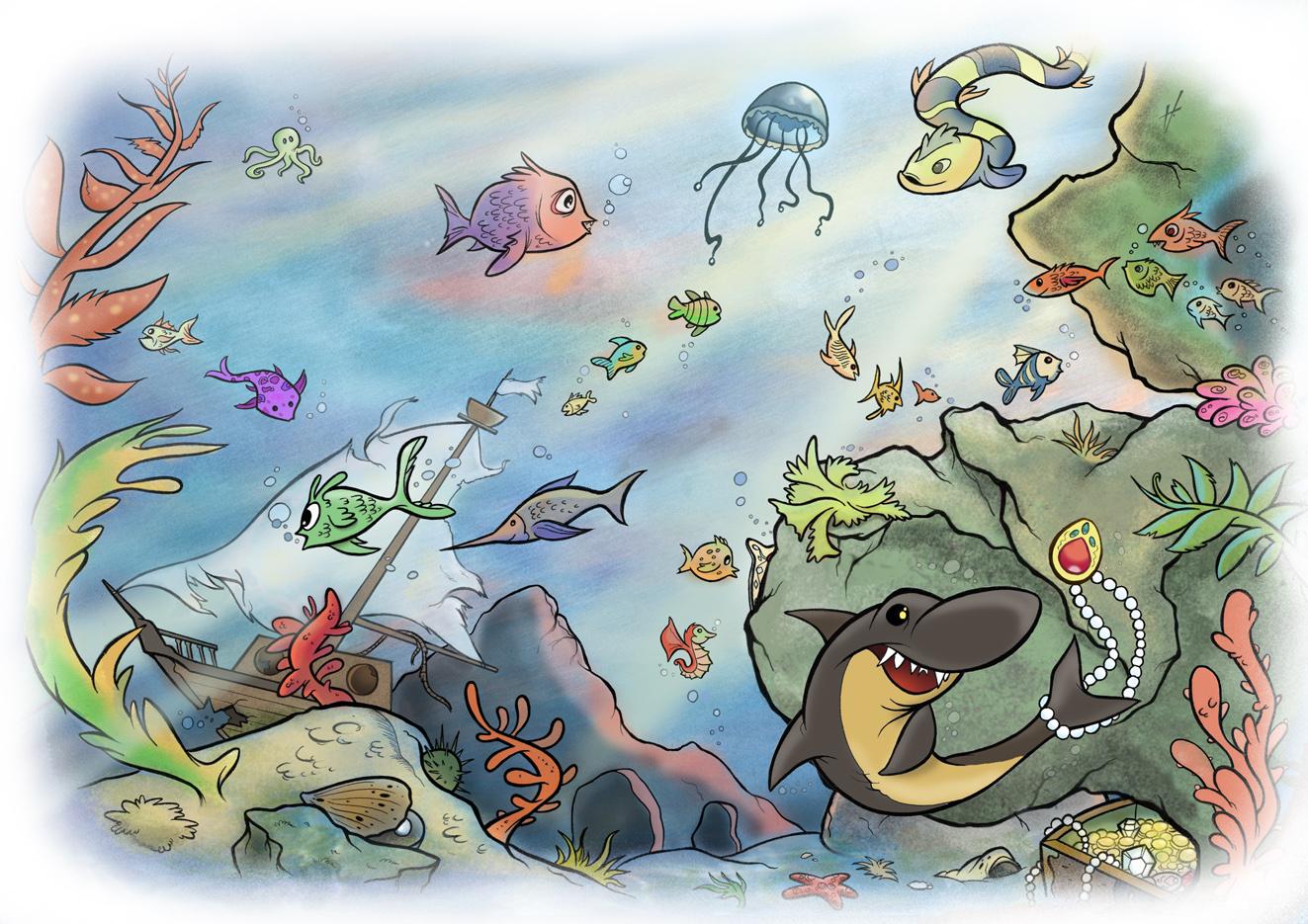 Underwater World by MianaHeART on DeviantArt  Underwater World Drawings