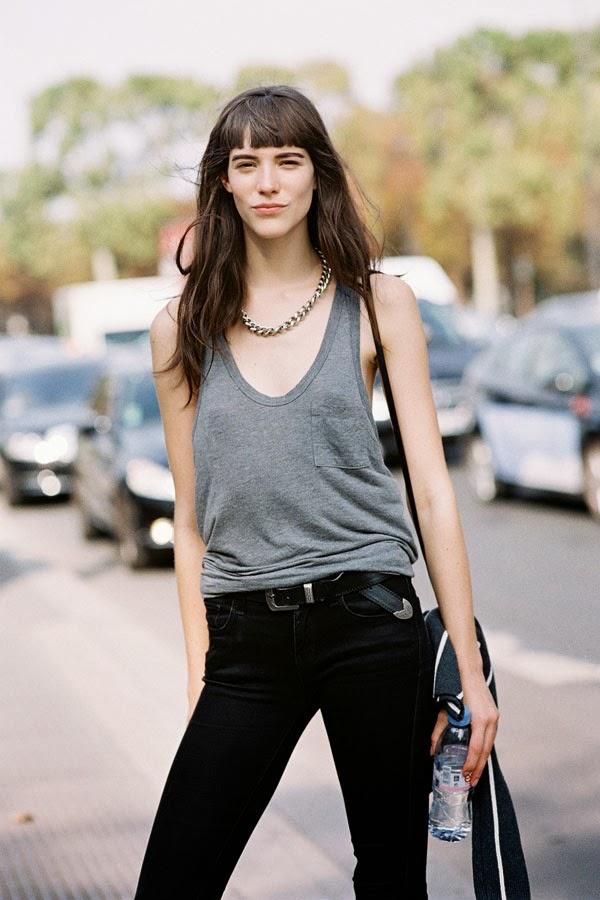 Carla Ciffoni Layers In Fall Knitwear For Elle Uk By: Vanessa Jackman: Paris Fashion Week SS 2014....Carla