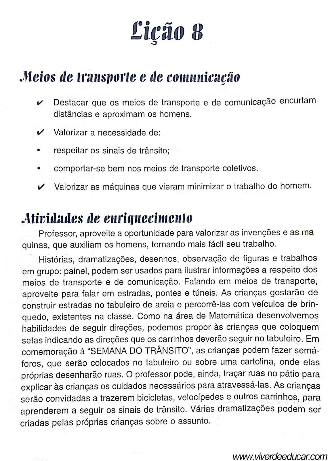 Atividades Sobre Meios De Transporte Para 2º Ano Do Fundamental