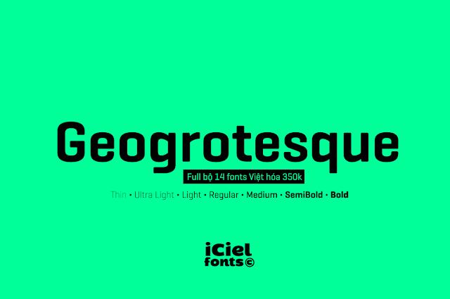 [Sans-serif] Geogrotesque Việt hóa