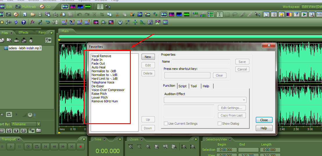 how to use adobe audition