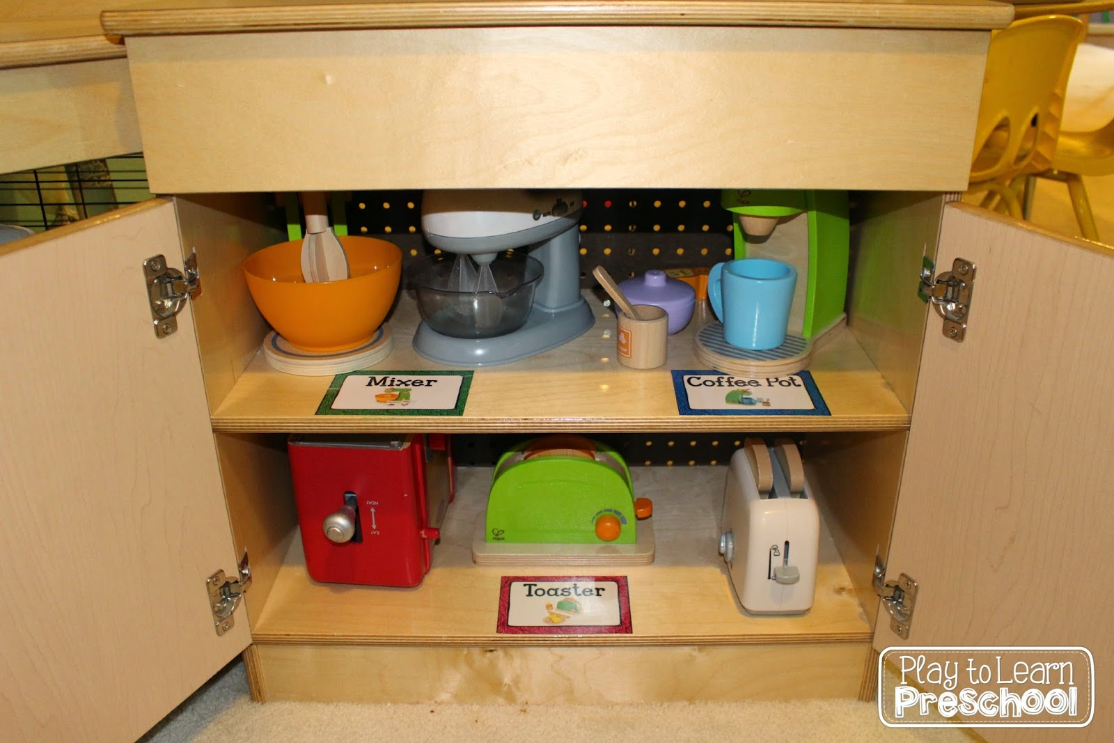 Preschool Dramatic Play Area for in a Kitchen