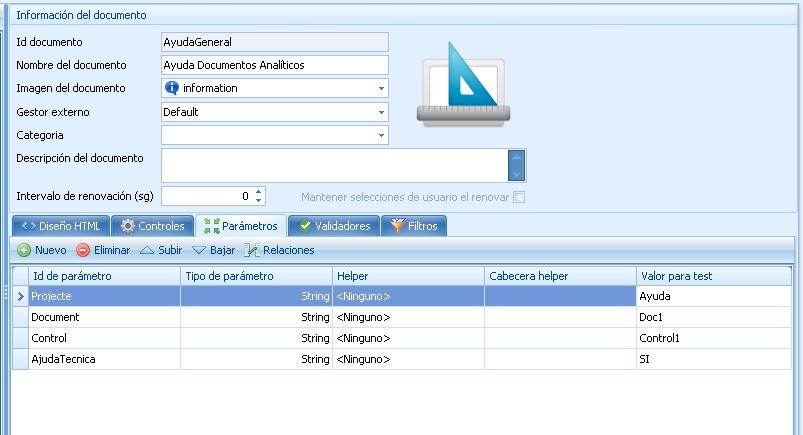 Atlas SBI - Creación Documento Ayuda - Parámetros