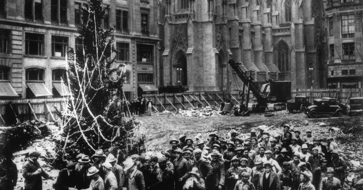 The First Ever Christmas Tree At Rockefeller Center New