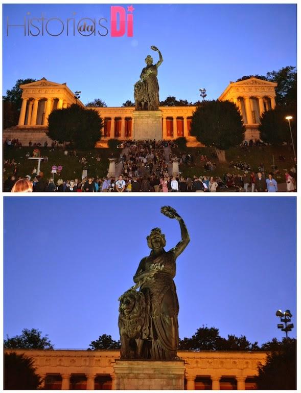 A Deusa Baviera - a estátua enorme que marca presença no evento